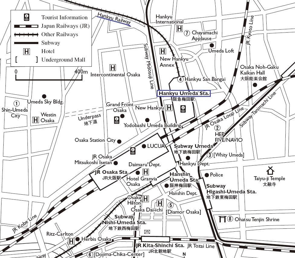 Umeda map